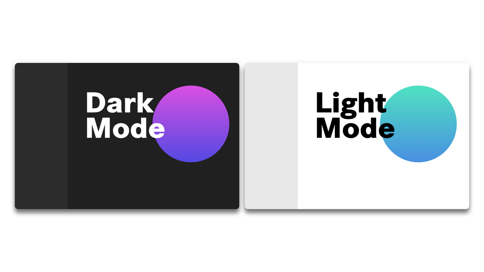 Platform layout in dark and light props.theme. (Abstracted visualization)